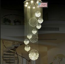 NEW Modern Chandelier Crystal Light Ceiling Villa Living Stairs Lighting Fixture