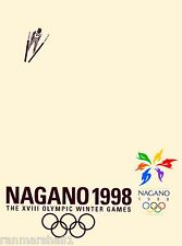 1998 Nagano Japan Asia XVIII Winter Olympic Games Travel Advertisement Poster