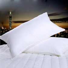 100% Hungarian Goose Down Filled Pillow,1800TC White 100% Egyptian Cotton Cover