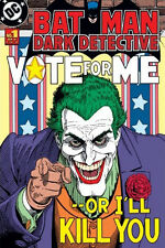 Batman LAMINATED POSTER Joker Dark Detective Vote For Me Comic Cover DC Retro