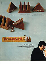 PUBLICITE ADVERTISING 064  1972  TOBLERONE  chocolat au lait
