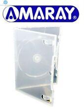 100 unico standard ECOLITE chiaro DVD DA 14 MM NUOVO VUOTO sostituzione Custodia Amaray