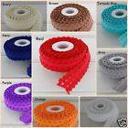 2m, 5/8 , 15mm  Frill Edge FOE Fold over elastic Ribbon baby headband