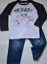 ZARA Ensemble 2 pièces : jean's & tee-shirt ML pour garçon 18/24 mois (86/98 cm)