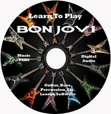 Bon Jovi Guitar TABS Lesson CD for Windows, Linux, MAC 132 songs!