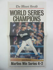 Lot of 10 FLORIDA MARLINS 2003 WORLD SERIES CHAMPS Miami Herald Special Insert