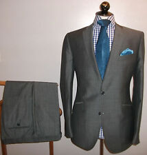 Marks Spencer Tailored 42 R Tonic Grey Wool Mohair Suit Jacket Trouser W 38 L 33