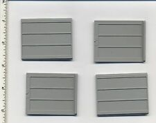 LEGO x 4 Classic Light Gray Door Sliding Type 2 NEW train 4512 4564 4563