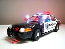 "1/18 Wilmington, Delaware Police Car ""WORKING LIGHTS 4 SIREN chp nYpd Ut RARE"