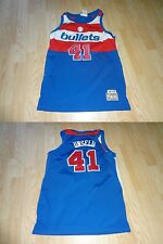 Youth Boys Washington Bullets Wes Unseld M Hardwood Classics Jersey