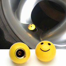 1 Pair Universal Smile Face Car Truck Bike Tire air Valve Stem Caps Wheel Rims