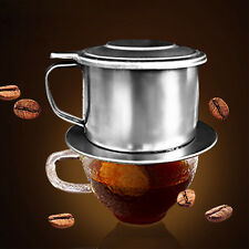 Stainless Steel Drip Coffee Filter Maker Pot Infuser For Office Home Traveling