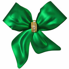 RUCINNI Green Ribbon Brooch
