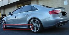AUDI A4 B8 S4/S-LINE LOOK SIDE SKIRTS / SIDE BAR 197 CM NEW ! (in primer)