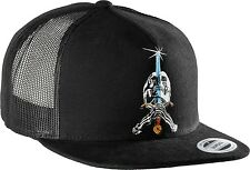 Powell Peralta Skull & Sword Trucker Hat Snapback Black OG Bones Skateboard NEW