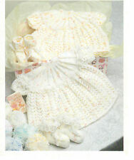 baby girls dress and bootees dk knitting pattern 99p 80