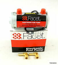 FUEL PUMP GENUINE FACET RED TOP 480532E COMP USE 200+ BHP NEW WITH UNIONS