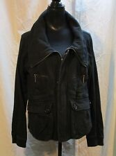 To the Max Women's XL Black Cotton Jersey Zipper Front Jacket