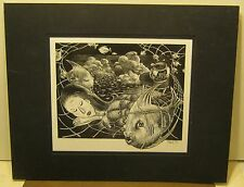 "Wonderful Original Etching ""SWEET DREAMS"" Signed A PETERSON 2001 Super Detail NR"