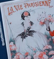 LA VIE PARISIENNE 1922 ORIGINAL PRINT OFFSET LITHOGRAPH FROM PARIS
