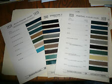 1939 Pontiac Willys Studebaker Sherwin Williams Color Chips Paint Sample