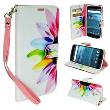 Folio Flip Stand Bill Credit Card Wallet PU Leather Case Pouch For ZTE Axon Pro
