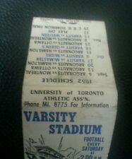 1952 Toronto Argonauts University of Toronto matches schedule Pre CFL CIS CRU