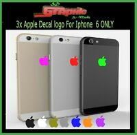 3x Apple Logo Skin Sticker Decal Film for iPhone 6/6s