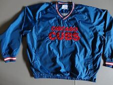 Blue Chicago Cubs Lined Pullover MLB Baseball Embroidered Jacket 4XL Excellent