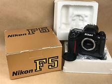 Nikon F5 35mm SLR Film Camera Body # 3206436 Near Mint in the Box !
