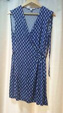 Diane Von Furstenburg DVF Size 12 Stretch Wrap Tunic Dress