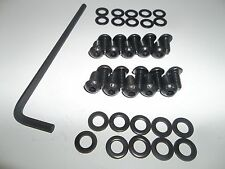 Air cooled VW (bug, bus, ghia, squareback) engine tin replacement bolts - black