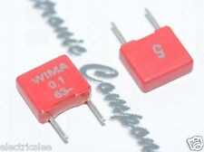 10pcs - WIMA MKS2 0.1uF (0,1µF 100nF) 63V 5% pitch:5mm Polyester Capacitor