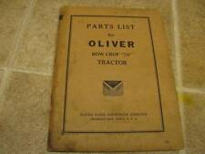 Original Oliver 70 Tractor Parts List Catalog Manual 1941