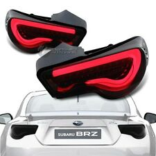 Subaru BRZ FT86 Scion FRS GT86 Black Housing Smoke Lens LED Red Tail Light Lamps