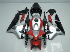 Fit for Honda CBR600RR 2005-2006 Injection Red Black Silver Fairing Plastic aC2