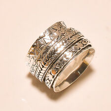 THREE TONE BAND RING 925 SILVER RING HANDMADE SPINNING JEWELRY  S-10US 2012