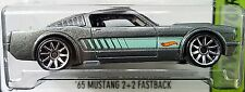 Hot Wheels 2015 HW Workshop '65 Mustang 2+2 Fastback Gray 1965 Ford 1:64