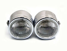 TWIN MOTORCYCLE MOTORBIKE TRIKE HEADLAMP HEADLIGHT SET CHROME