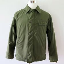 VINTAGE ORIGINAL USN US NAVY A-2 A2 DECK JACKET PERMEABLE 1968 VIETNAM LARGE