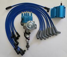 SMALL BLOCK FORD 289-302 BLUE Small HEI Distributor,BLUE COIL & SPARK PLUG WIRES