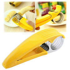 Home Kitchen Helper Tool Stainless Steel Banana Slicer Cutter Hot Dog Ham Chop