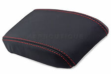Armrest Cover for 89-93 Nissan 240SX S13 Leather Center Console Lid w/Red Stitch