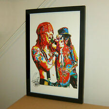 Axl Rose, Slash, Guns N' Roses, Singer, Guitar Player, Rock, 11x17 PRINT w/COA