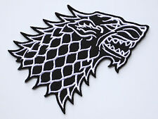 Game of Thrones Stark Direwolf Embroidered Iron-on Badge Patch