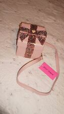 NWT Betsey Johnson GIFT BOX Pink Blush Sequin Cross-body Bag SOLD OUT!!