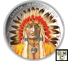 2016 Wanduta-Portrait of a Chief Color Prf $50 Silver 5oz .9999 Fine (NT)(17751)
