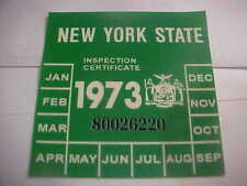 new york 1973 inspection sticker windshild