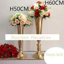 24 in Gold Trumpet Vases Polished Metal Wedding Centerpieces Vases (Atlanta, GA)