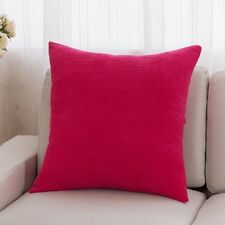 """Plain Corduroy Pillow Cases Throw Cushion Cover Red Blue Green Pink Yellow 22"""""""
